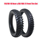 Dirt Bike Front And Rear Motocross Tires Tubes Set 80/100-21 110/90-18 Motorcycle