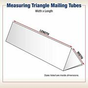 Box Usa Bmtm230 Triangle Mailing Tubes 2 X 30-1/4 Oyster White Pack Of 50