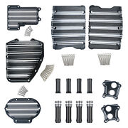 Transmission Engine Covers Kit Fit For Harley Dyna Softail Electra Glide 04-17