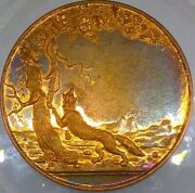 1860's Fox And Tree 4238/3483a R-7 Rare In Copper Whist Gaming Counter Token