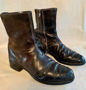 Carol Christian Poell Classic Double Zip Leather Boots Size 8 Uk
