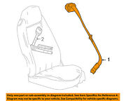 Chevrolet Gm Oem Corvette Front Seat-belt And Buckle Retractor Right 19151307