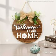 Welcome Wreath Sign For Farmhouse Front Porch Decor