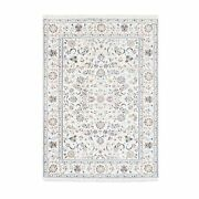 4and0399x6and0399 All Over Floral Design Wool And Silk 250 Kpsi Nain Handmade Rug R62732