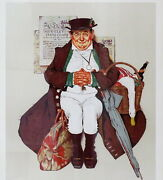 Norman Rockwell Signed Lithograph Muggleton Stage Coach Artist Proof Coa Framed