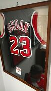 Michael Jordan Authenticated Autographed Jersey In Frame