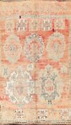 Antique Geometric Moroccan Oriental Area Rug Hand-knotted Wool Home Decor 6and039x11and039
