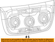 Jeep Chrysler Oem 17-18 Compass Dash Cluster Switch-heater Control 5va29dx9ae