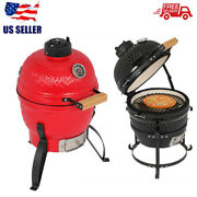 13 Inch Ceramic Egg Style Bbq Portable Premium Grill Outdoor Indoor Heavy-duty