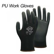 120 Pairs Pu Nitrile Coating Work Gloves Seamless General Gloves Ce 4131
