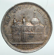 1775 Germany Mannheim Cathedral Society Of Jesus Old Silver Medal Coin I90782
