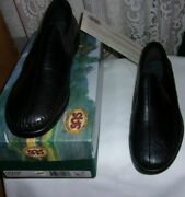 Sas Dream Womens Black Leather Made In The Usa Casual Shoes Size 7 1/2 W New