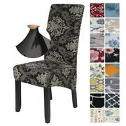 Us Dining Chair Covers Stretch High Back Seat Cover Protective Slipcover Decor