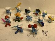Smurfs Figures Mcdonalds Happy Meal 2011 / 2013 Pre Owned Smurf Toys Lot Of 12