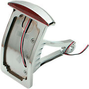 Drag Specialties Side Mount Taillight/license Plate Mount Curved Vertical