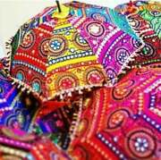 Wholesale Lots Indian New Design Decoration Umbrella Embroidery Mehndi Party