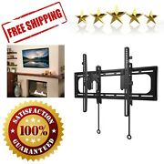 Tv Wall Mount For 46-90 Inch Flat Panel Open Wall Plate Design Living Room Black