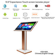 6tb Hdd 19.5'' Capacitance Touch Screen Karaoke Player,chinese,english Songs