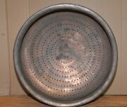 Huge Rare 7 1/2 Lb Copper Bowl Cooking Prayer Collectible 20 Dia 7 Tall Early