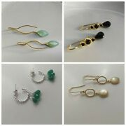 Buy 2 And Get 1 Free 925 Sterling Silver Dangle Earrings