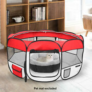 45andlsquoandrsquo Portable Foldable Cat Dog Houses Mesh Pet Playpen Fence With Eight Panels