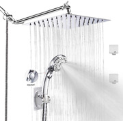 Lohner Rainfall Shower Head Kit With Hose Luxurious Stainless Steel 8and039and039 Rain Sh