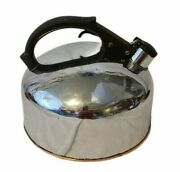 Vintage Revere Ware 1801 Solid Copper Chrome Plated 3 Qt Tea Kettle Rome Ny Usa