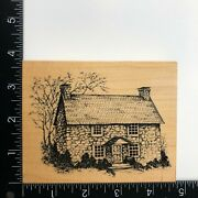 Psx Designs Colonial Cottage Farmhouse House Wood Mounted Rubber Stamp Hc1663