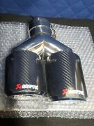 Akrapovic Carbon Fiber Tail Pipe Double End For Bmw M5 F10 Sealed New