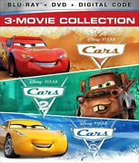 Disney Pixar Cars 3-movie Collection 123 Blu-ray +dvd +digital Code New