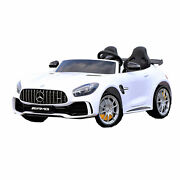 First Drive Mercedes Benz Gtr Kids Electric Ride On Car W/ Remote Control White