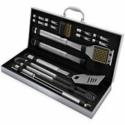 Bbq Grill Accessories Set 16pc Grilling Barbecue Tools Griddle With Case