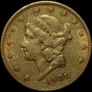 United States 1901-s Gold 20 Dollar Double Eagle About Ef