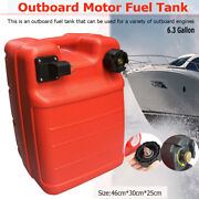 24l Portable Boat Yacht Engine Marine Outboard Fuel Tank Oil Box For Yamaha Us