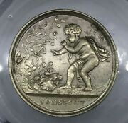 1840's Cupid And Butterfly 3634/3487f R-8 Silver Whist Token Fuld Collection