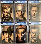 Image Comics The Walking Dead Deluxe 1-6 2nd Print Variant Set All Cgc 9.8