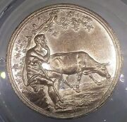 1840's Shepherd And Cow 1712/6512j R-7 By Loos Whist Token Medal