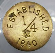 1850and039s Jos. Stiner And Co. Ny839fb R-5 Tea And Coffee W New York City Token