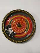 Vintage Made In Usa Flicker Top Tin Spinner Toy Optical Illusion Spinning Cat