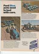 Original 1973 Ford Tractor Magazine Ad Ford Blue Puts Seed To Bed With Care