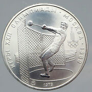 1979 Moscow 1980 Russia Olympics Hammer Throw Old Silver 5 Rouble Coin I91448