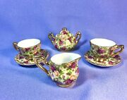 Rare 1999 Old Country Roses Royal Albert Chintz Collection Miniature Tea Set