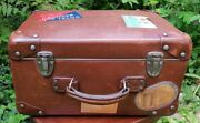 Suitcase Box Hats In Fibre Vulcanized Of Years 1940's/1950's