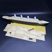1/350 Wood Deck+masking Sheet Anchor Chain For Minicraft 11318 Rms Titanic Model