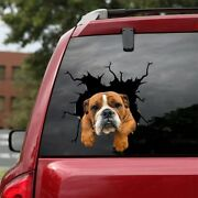 English Bulldog Car Decals Dog Car Stickers Bulldog 3d Realistic Decal 12x12