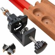 Cabinet Hinge Drilling Hole Puncher Drill Guide Locator Dowel Jig Door Concealed