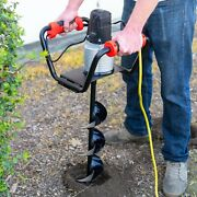 Premium Electric Post Hole Digger Soil Digging Fence Post Plant With 6 Digging