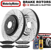 Front Drilled Brake Rotor And Pads For Ford Explorer Flex Taurus Lincoln Mkt