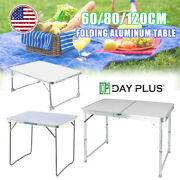 Aluminum Folding Table Portable Indoor Outdoor Picnic Party Camping Tables New