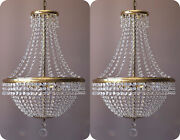 Matching Antique Style Vintage Crystal Chandeliers Home Lighting Lamp Pendant
